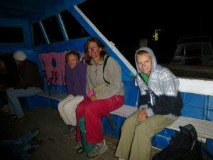 Nous voici sur le bateau-taxi