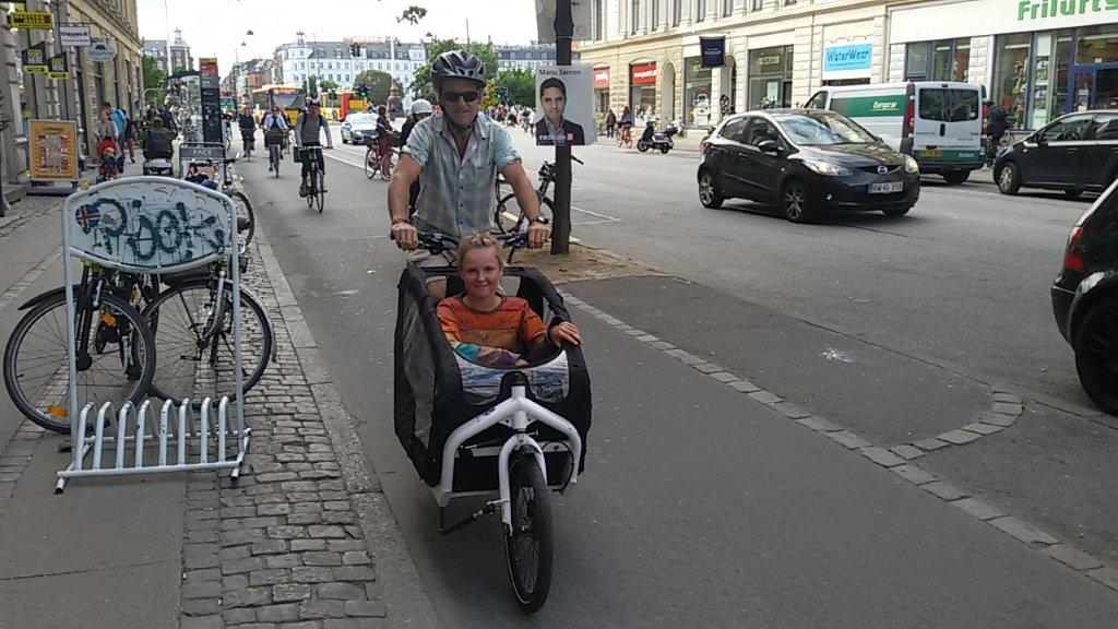 "We got to test drive the latest model of cargo bike by ""Bullitt"""