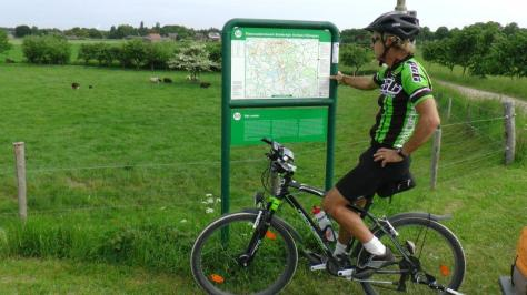 Rural cycle routes in Holland are well signed with maps at many intersections.