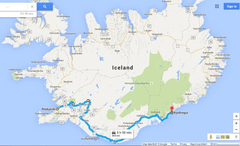 south coast of Iceland route